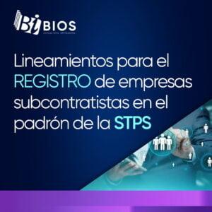 Lineamientos registro empresas subcontratistas stps